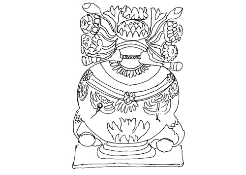 Image of the decorative pot, or 'Womb of the Goddess'