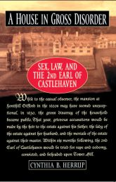 A House in Gross Disorder: Sex, Law, and the 2nd Earl of Castlehaven